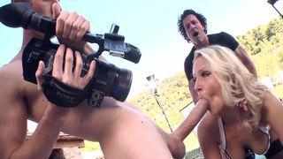 Samantha shooting some porn
