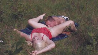 Double penetration in the meadow