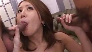 Threesome experience for hot babe Mariru Amamiya