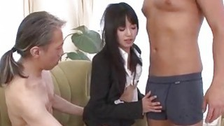 Kotomi Asakura office adventure with her bosses