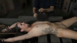 Honey is tying up honey for torture session