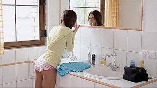Petite Queen Admires Her Hot Body in front of Mirror
