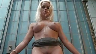 Playgirl gets a outdoor punishment for her slit