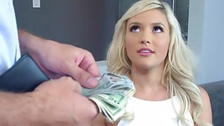 Blonde Kylie fuck by Keiran for money and made her pussy wet