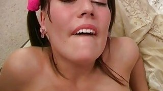 Hawt stud stretches and smacks astonishing pussy