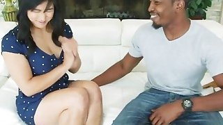 A very hot Asian chick Mia Li gets her tight butt fucked hard by horny black man
