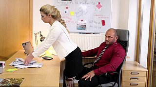 Kinky FFM action in the office